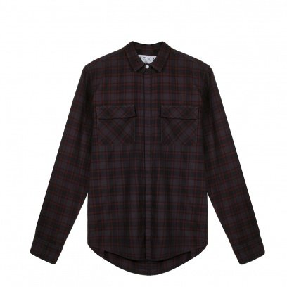 THE BURNT FLANNEL FIELD SHIRT - Overdyed Check 2