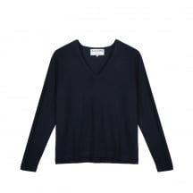 THE MERINO WOOL DEEP V-NECK