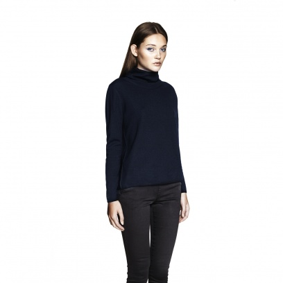 THE MERINO WOOL WIDE POLO NECK