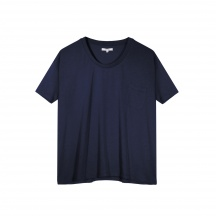 THE JERSEY VISCOSE, DEEP U-NECK - Short Sleeve